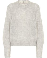 Isabel Marant Ivah Mohair And Wool-blend Jumper - Grey