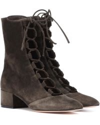 Gianvito Rossi Exclusive To Mytheresa. Com – Delia Suede Ankle Boots - Brown