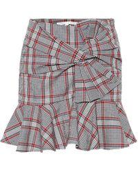 Veronica Beard Picnic Plaid Miniskirt - Gray