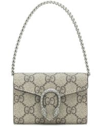 Gucci Dionysus GG Supreme Clutch - Natural