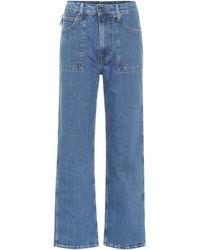 Helmut Lang Factory High-rise Straight Leg Jeans - Blue