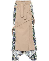 ROKH Floral Cotton Skirt - Blue