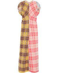Marni Plaid Cotton Jersey Dress - Multicolor