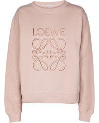 Loewe Sudadera Anagram de algodón - Rosa