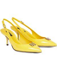 Dolce & Gabbana - Pumps DG aus Lackleder - Lyst