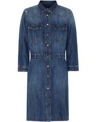 7 For All Mankind Victoria Denim Shirt Dress - Blue