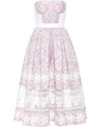 Huishan Zhang Wool And Silk Lace Dress - Multicolour