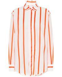 Victoria Beckham Hemd aus einem Baumwollgemisch - Orange