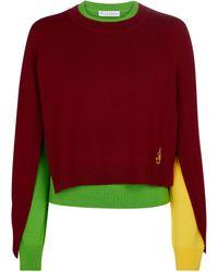 JW Anderson Jersey de lana deconstruido - Rojo
