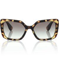 Miu Miu Gafas de sol cuadradas de acetato - Marrón