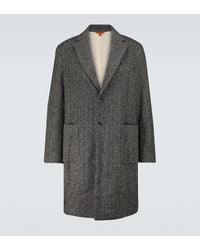Barena Baron Single-breasted Herringbone Coat - Grey