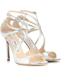 Jimmy Choo | Lang Leather Sandals | Lyst