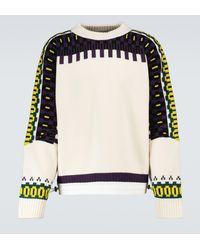 Sacai Jersey de mezcla de lana con intarsia - Multicolor
