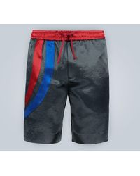 Gucci Mid-length Shorts With Bands - Black