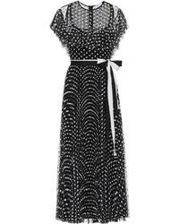 RED Valentino Floral Embellished Maxi Dress - Black