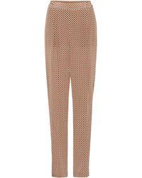 f3e39d3d7cfb Stella McCartney - Printed Silk Wide-leg Trousers Camel - Lyst