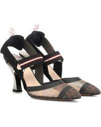Fendi Colibrì Slingback Kitten Heel Court Shoes - Multicolour