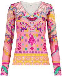 Etro Stretch-silk Jumper - Pink