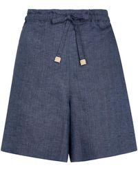 Loro Piana Exclusive To Mytheresa – Grant Linen Bermuda Shorts - Blue