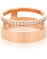 Repossi - Bague Berbere Module en or rose 18 ct et diamants - Lyst