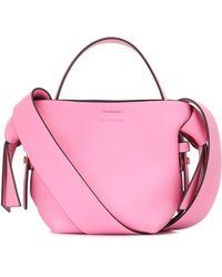Acne Studios Musubi Micro Leather Shoulder Bag - Pink
