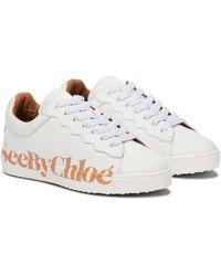See By Chloé Sneakers Essie aus Leder - Weiß