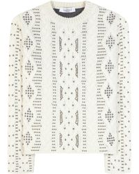 Valentino - Embellished Wool And Alpaca Sweater - Lyst