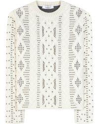 Valentino Verzierter Pullover aus einem Woll-Alpaka-Gemisch - Mehrfarbig