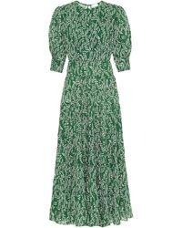 RIXO London 'Kristen' Kleid mit Print - Grün