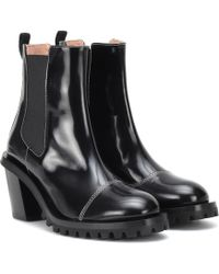 Acne Studios Patent Leather Ankle Boots - Black