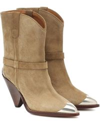 Isabel Marant Bottines Lamsy en daim - Neutre