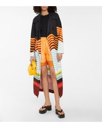 Dries Van Noten Shorts de organza de seda y algodón - Naranja