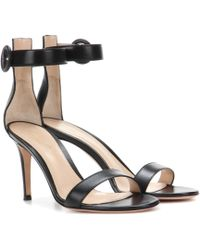 Gianvito Rossi - Portofino 85 Leather Sandals - Lyst