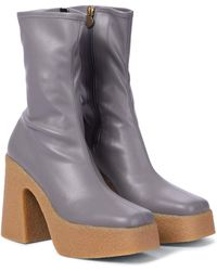 Stella McCartney Ankle Boots aus Lederimitat - Grau