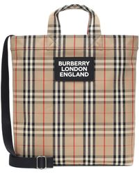 Burberry Vintage Check Tote - Natural