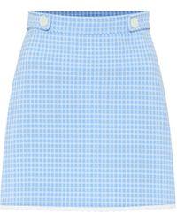 Miu Miu Gingham Checked Miniskirt - Blue