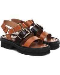 Dries Van Noten Leather Sandals - Brown