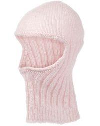 Cecilie Bahnsen Gaia Mohair And Silk Hat - Pink