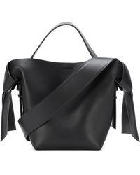 Acne Studios Musubi Mini Leather Shoulder Bag - Black