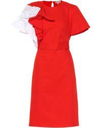 Delpozo Minikleid aus Baumwolle - Rot