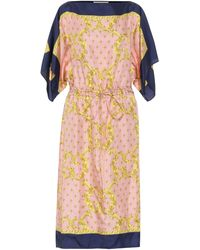 Gucci Printed Silk-twill Midi Dress - Natural