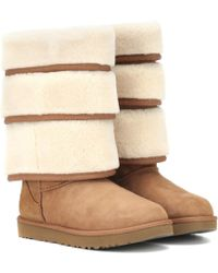 Y. Project X UGG Triple Cuff Boots - Brown