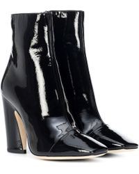 Jimmy Choo Mirren 100 Leather Ankle Boots - Black