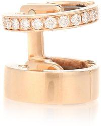 Repossi Boucle d'oreille unique Berbere Module en or rose 18 ct et diamants - Métallisé