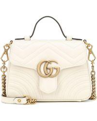 Gucci Mini sac à main GG Marmont - Blanc