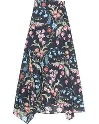 Peter Pilotto Floral-printed Midi Skirt - Blue