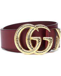 Gucci - GG Leather Belt - Lyst