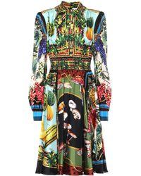 Dolce & Gabbana Minikleid aus Seide - Mehrfarbig