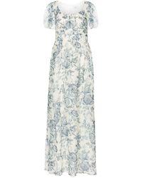 Erdem Rick Toile De Jouy Silk Voile Gown - White