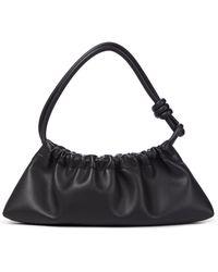 Nanushka Valerie Small Faux Leather Shoulder Bag - Black